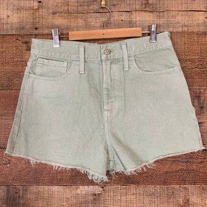 Madewell The MomJean Short Size 27 Mint Green